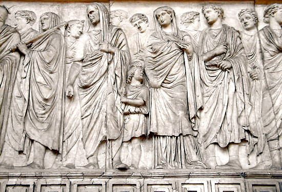 Ara Pacis - procession of nobles